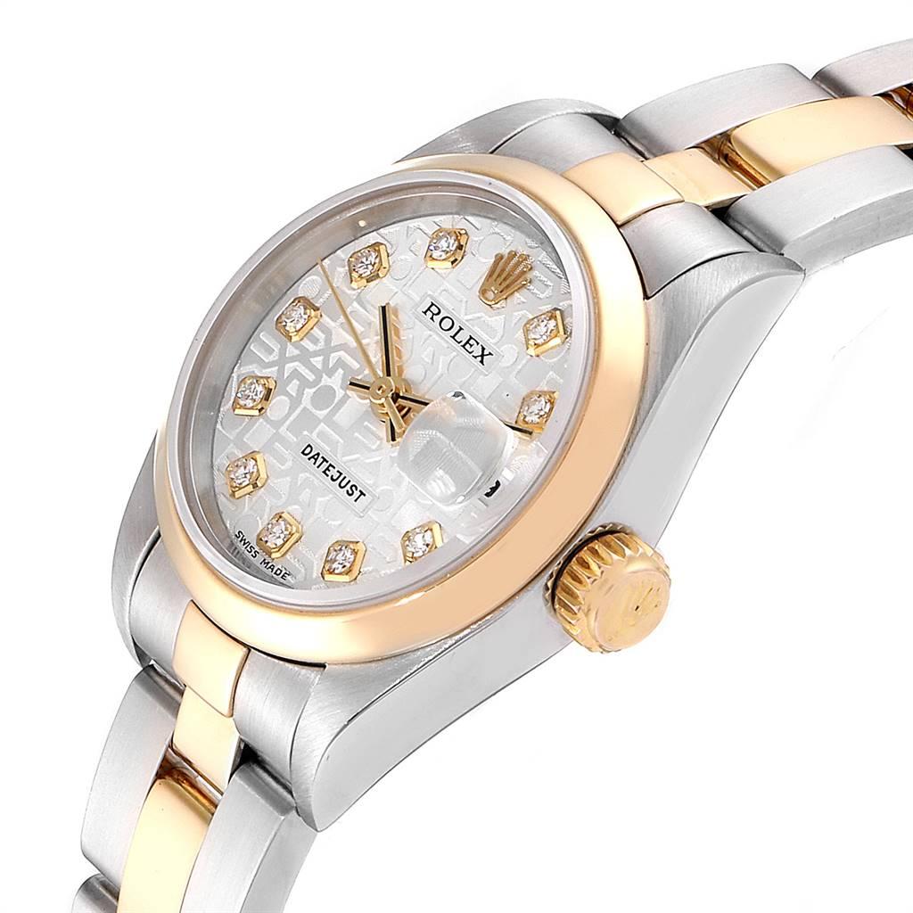 25265 Rolex Datejust 26 Steel Yellow Gold Diamond Ladies Watch 79163 SwissWatchExpo