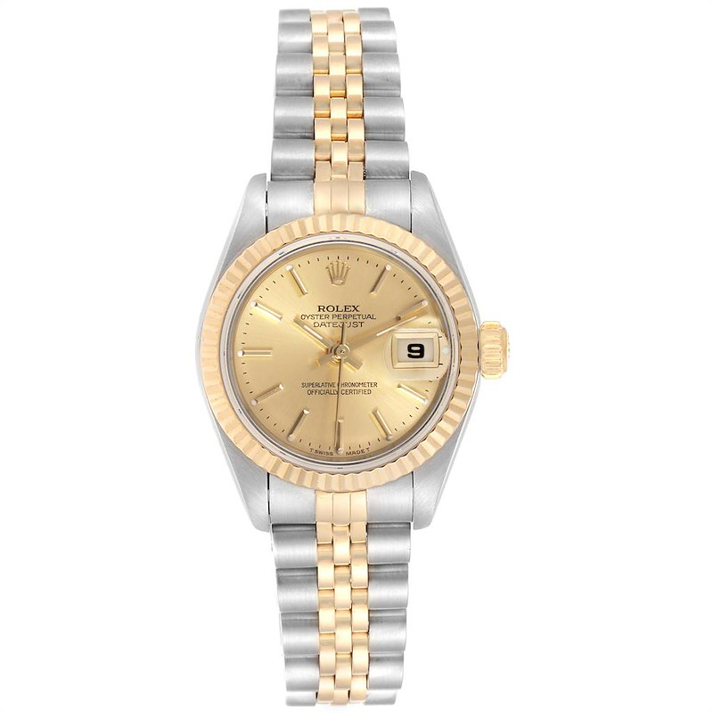 Rolex Datejust 26 Steel Yellow Gold Champagne Dial Ladies Watch 79173 SwissWatchExpo