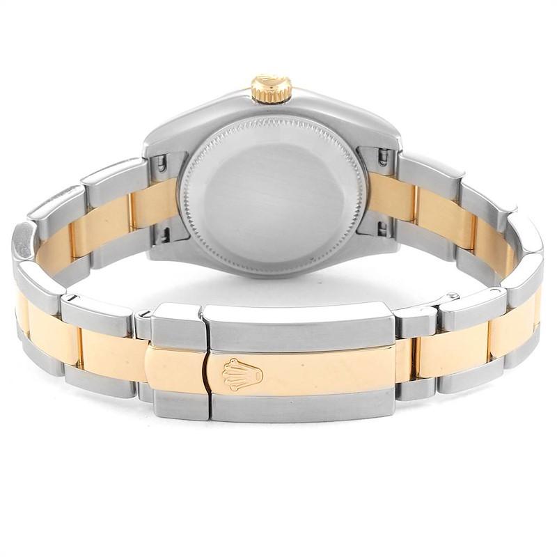 Rolex Datejust 26 Steel Yellow Gold White Dial Ladies Watch 179173 SwissWatchExpo