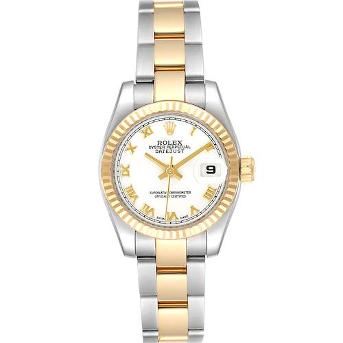 Photo of Rolex Datejust 26 Steel Yellow Gold White Dial Ladies Watch 179173