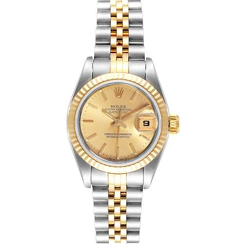 Photo of Rolex Datejust Steel Yellow Gold Jubilee Bracelet Ladies Ladies Watch 69173