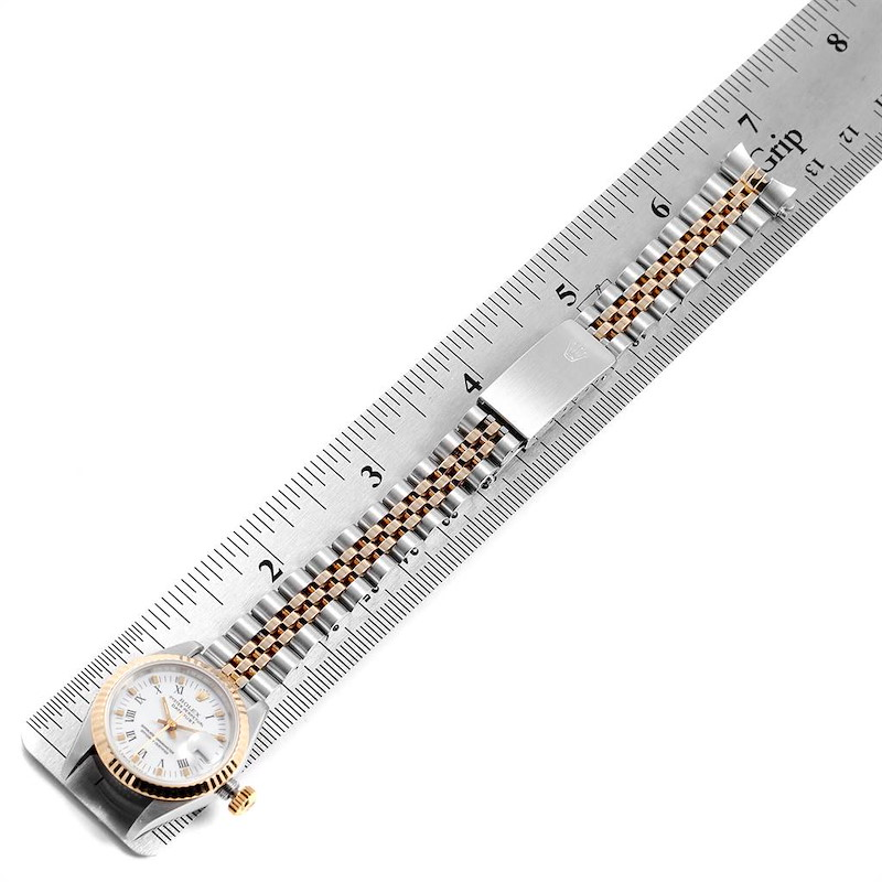 Rolex Datejust Steel Yellow Gold White Dial Ladies Watch 69173 Box Papers SwissWatchExpo