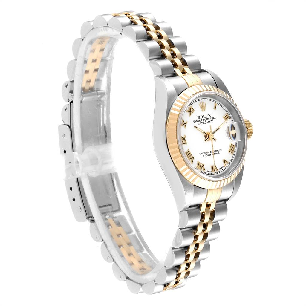 Rolex Datejust Steel Yellow Gold White Dial Ladies Watch Box Papers SwissWatchExpo