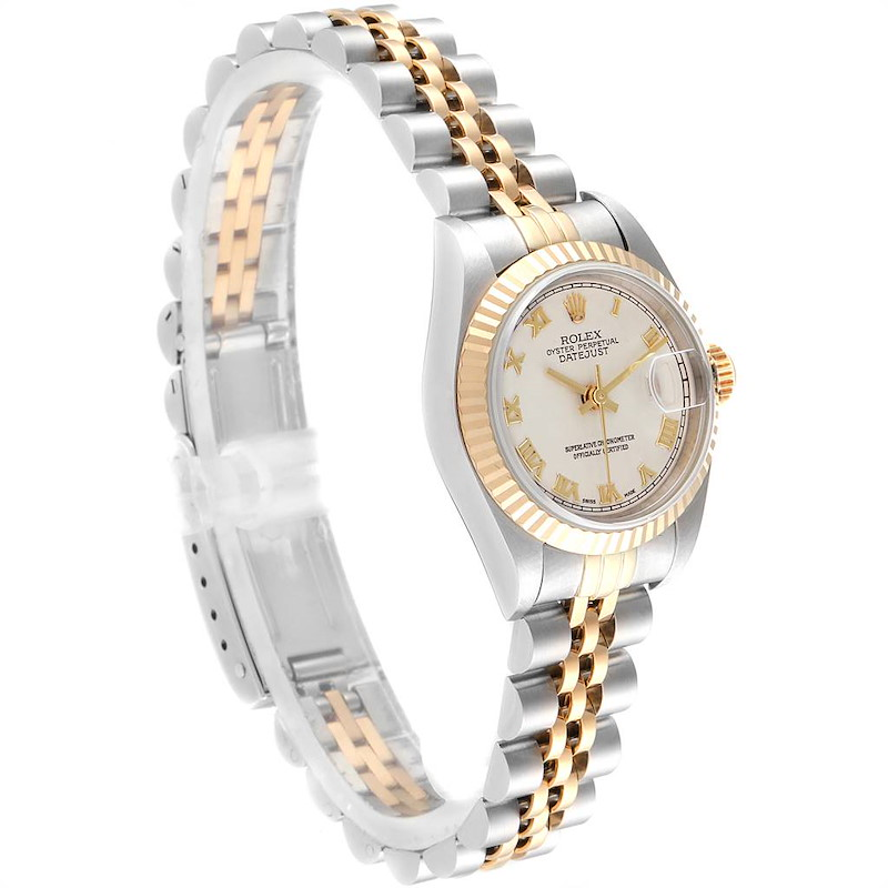 Rolex Datejust Steel Yellow Gold Pyramid Dial Ladies Watch 69173 Box Papers SwissWatchExpo