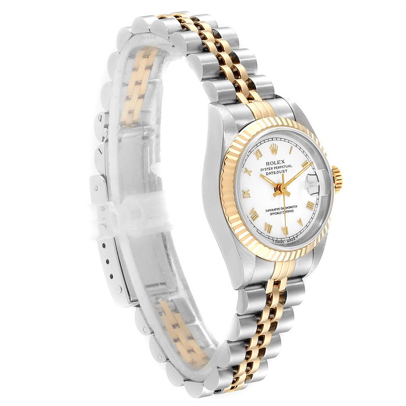 Rolex Datejust Steel Yellow Gold White Dial Ladies Watch 69173 Box SwissWatchExpo