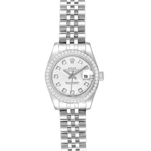 Photo of Rolex Datejust 26 Steel White Gold Diamond Ladies Watch 179384