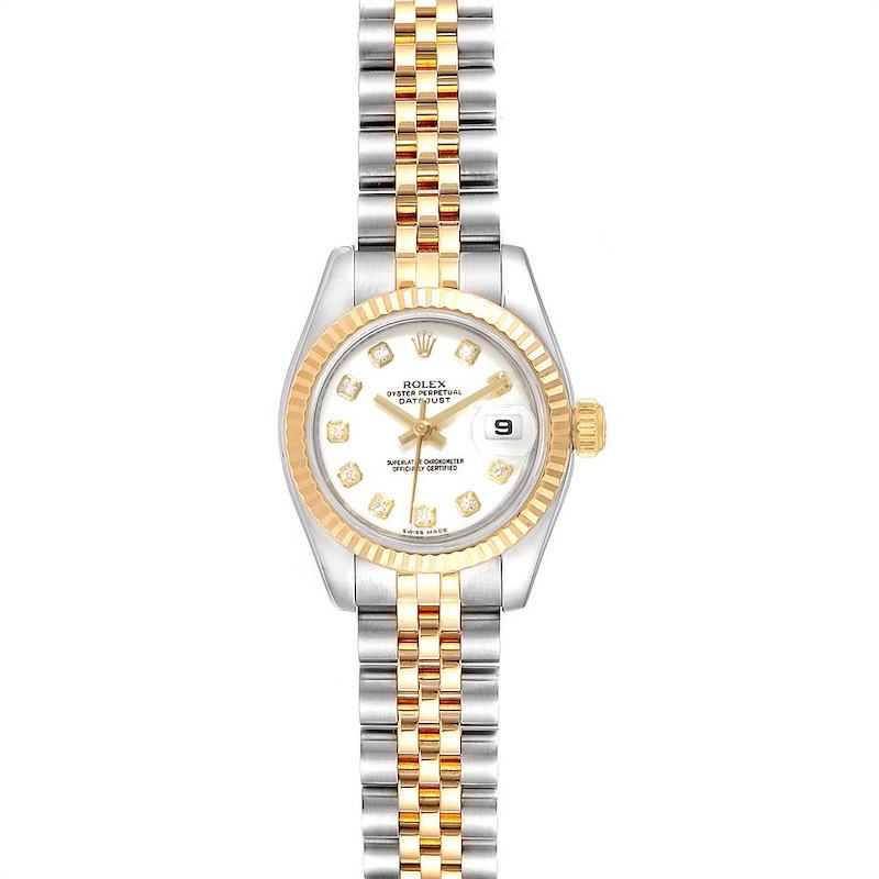 Rolex Datejust Steel Yellow Gold Jubilee Bracelet Diamond Ladies Watch 179173 SwissWatchExpo