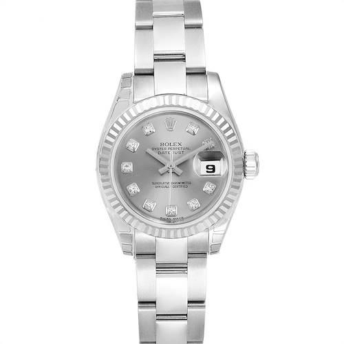 Photo of Rolex Datejust Steel White Gold Diamond Ladies Watch 179174 Unworn