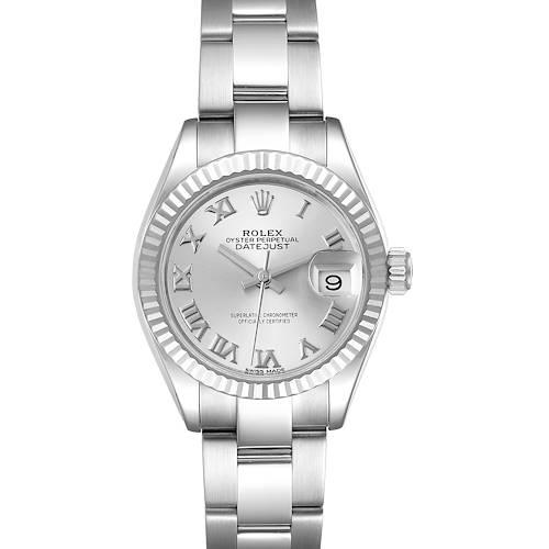 Photo of Rolex Datejust 28 Steel White Gold Oyster Bracelet Ladies Watch 279174