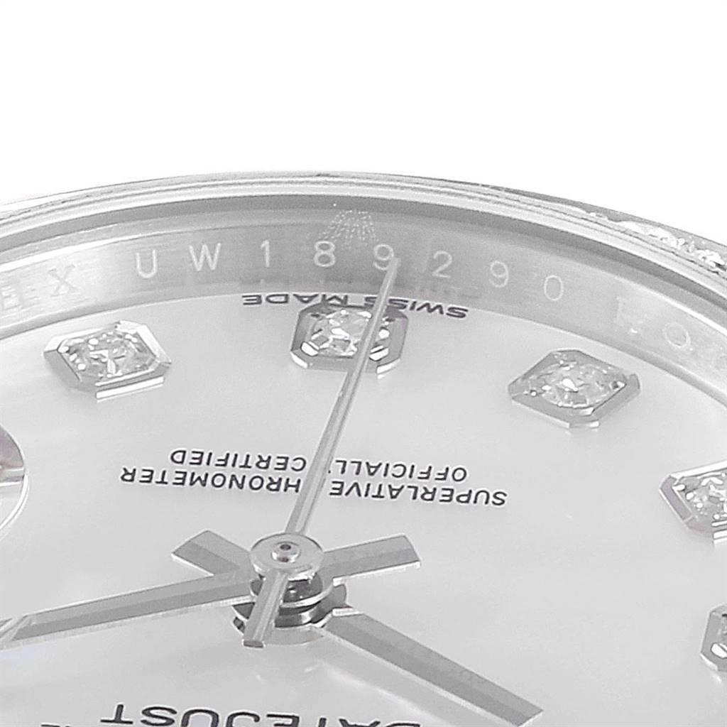 Rolex Datejust 28 Steel White Gold MOP Diamond Ladies Watch 279384 SwissWatchExpo