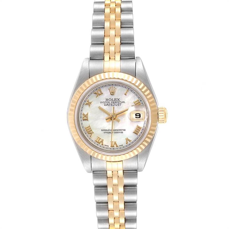 Rolex Datejust Steel Yellow Gold MOP Roman Dial Ladies Watch 79173 SwissWatchExpo