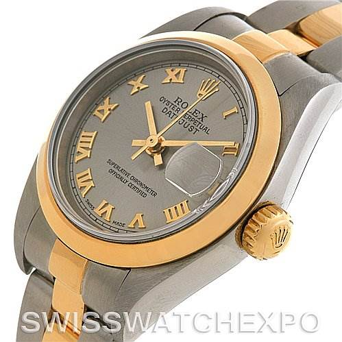 2673 Rolex Datejust Ladies Ss & 18k Yellow Gold Watch 79163 SwissWatchExpo