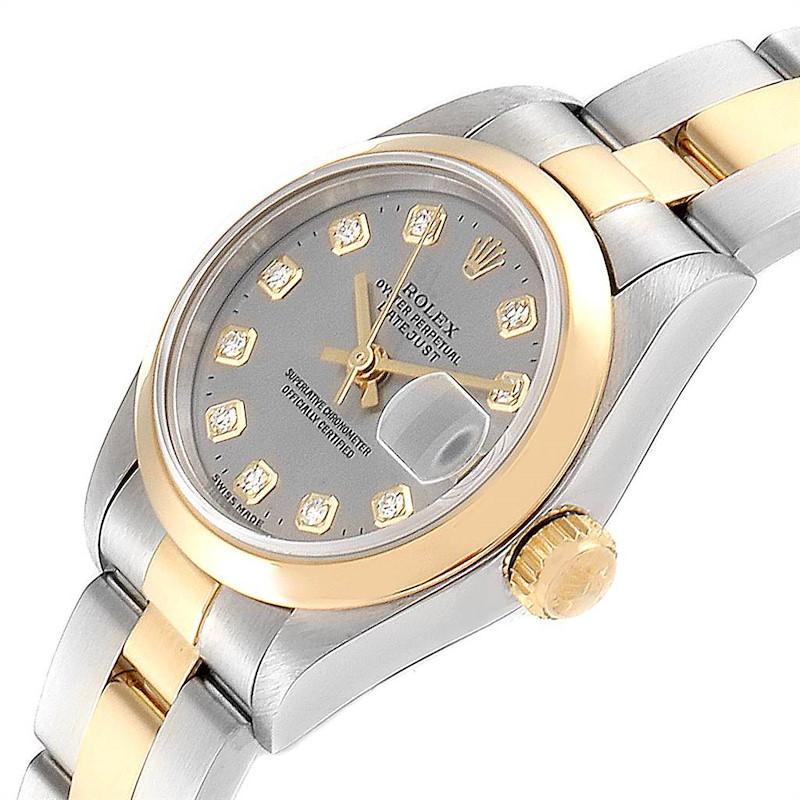 Rolex Datejus Steel Yellow Gold Diamond Ladies Watch 69163 Box SwissWatchExpo