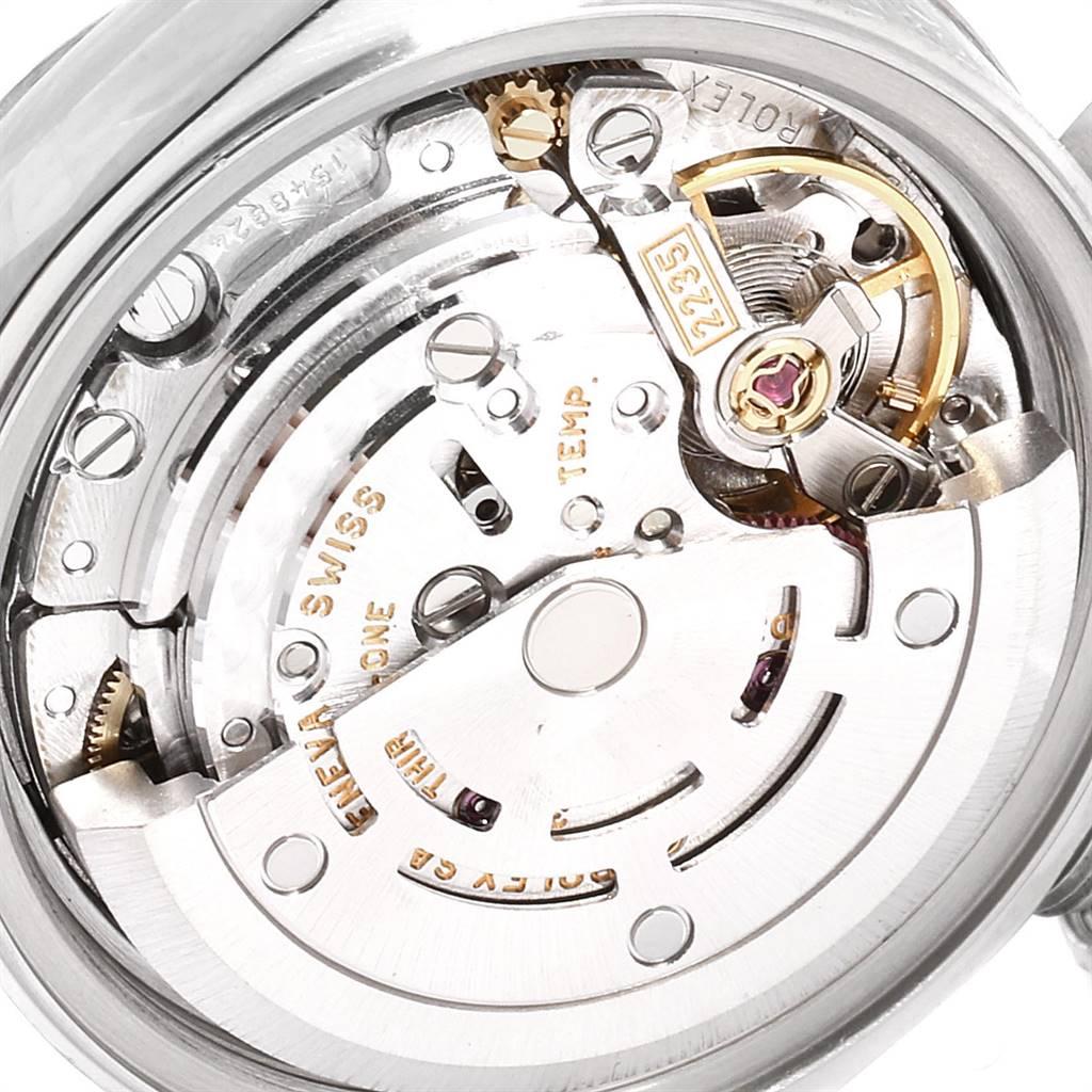 26108 Rolex Datejust Steel White Gold Diamond Dial Ladies Watch 79174 SwissWatchExpo
