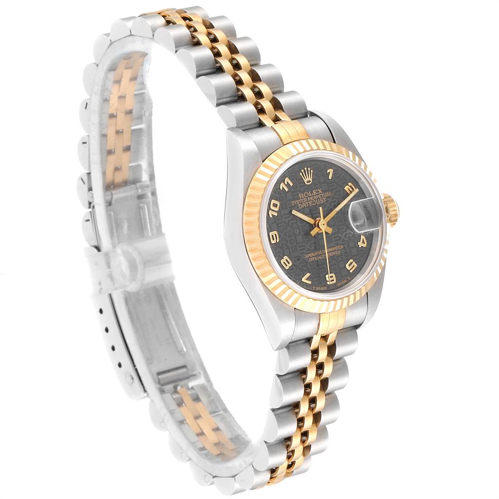 Rolex Datejust Steel Yellow Gold Jubilee Dial Ladies Watch 69173 Unworn SwissWatchExpo