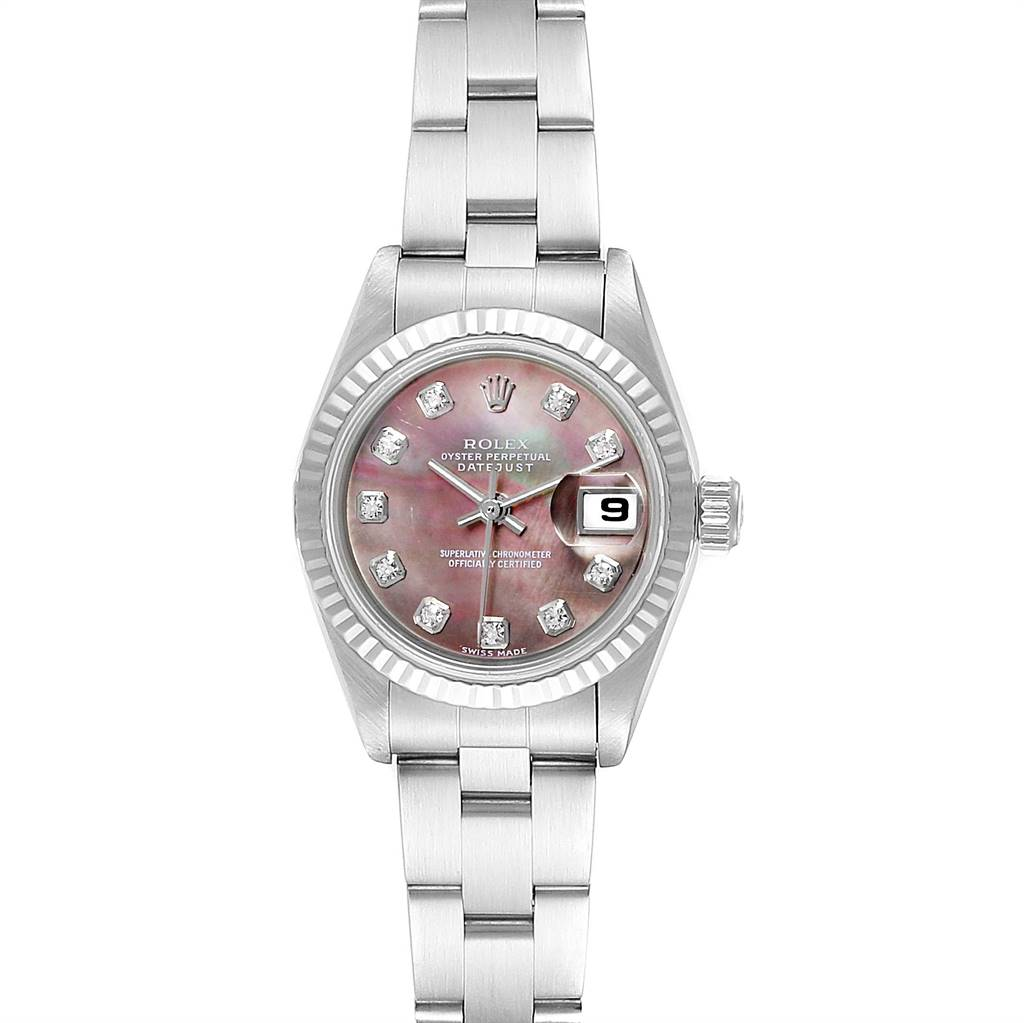 Photo of Rolex Datejust Mother of Pearl Diamond Ladies Watch 79174 Box Papers
