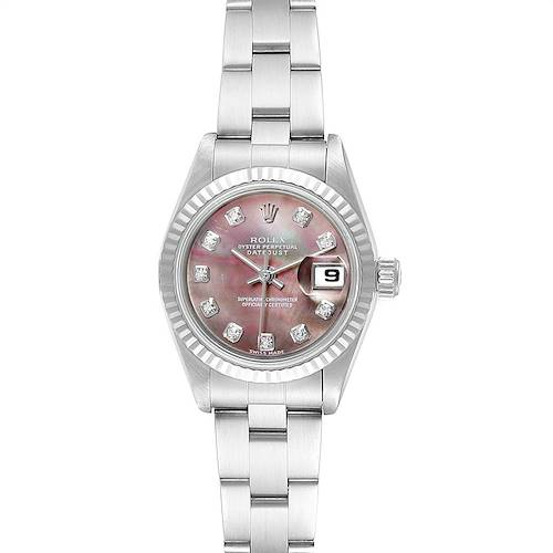 Rolex Datejust Mother of Pearl Diamond Dial Ladies Watch 79174 Box Papers