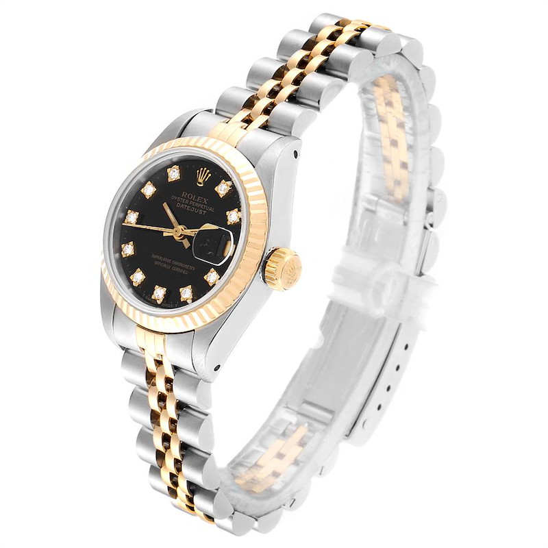 Rolex Datejust Steel Yellow Gold Diamond Ladies Watch 79173 Box Papers SwissWatchExpo