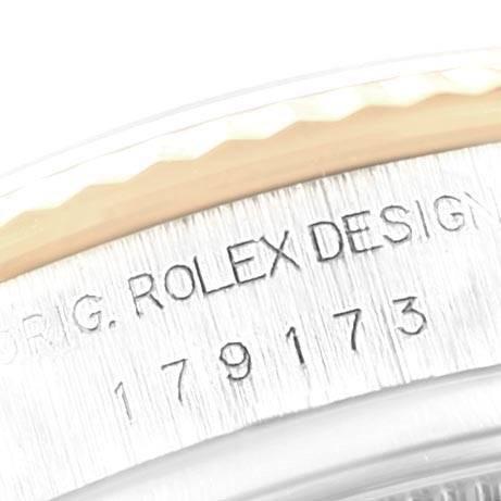 Rolex Datejust Yellow Gold Steel White Onyx Diamond Dial Watch 179173 SwissWatchExpo