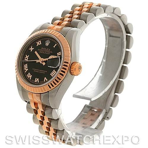 2641 Rolex Datejust Ladies Steel and 18k Rose Gold Watch 179171 SwissWatchExpo