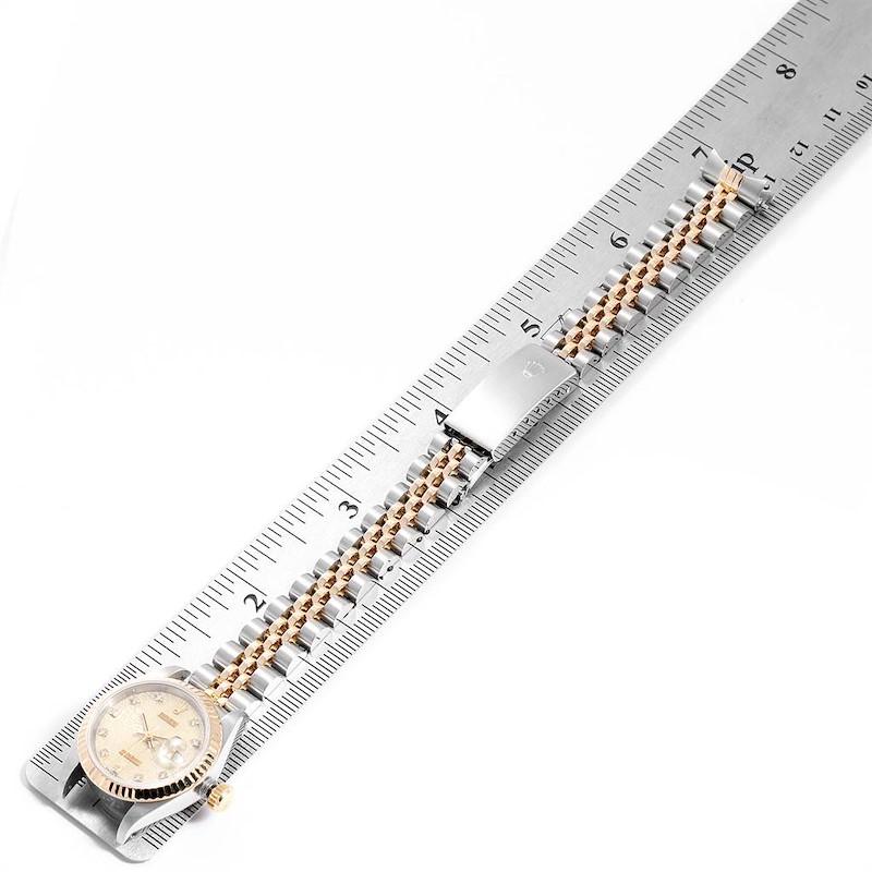 Rolex Datejust Steel Yellow Gold Diamond Ladies Watch 69173 SwissWatchExpo