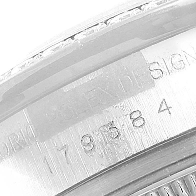 Rolex Datejust 26 Steel White Gold Diamond Ladies Watch 179384 SwissWatchExpo