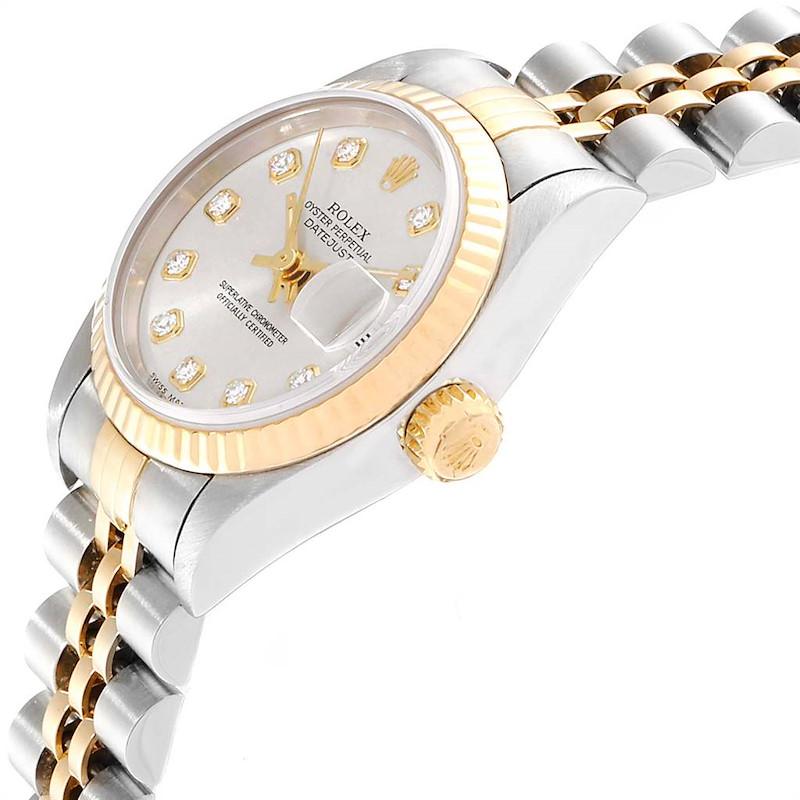 Rolex Datejust 26mm Steel Yellow Gold Diamond Dial Ladies Watch 69173 SwissWatchExpo