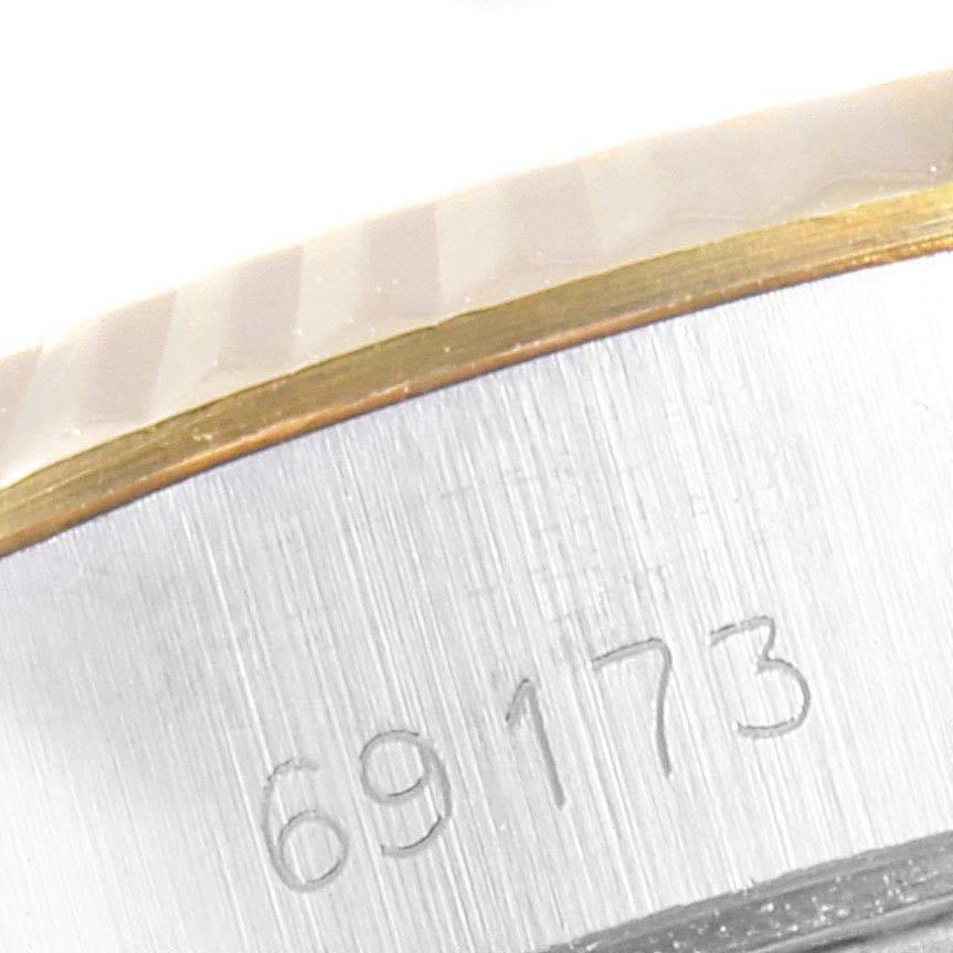 Rolex Datejust Steel Yellow Gold White Dial Ladies Watch 69173 SwissWatchExpo