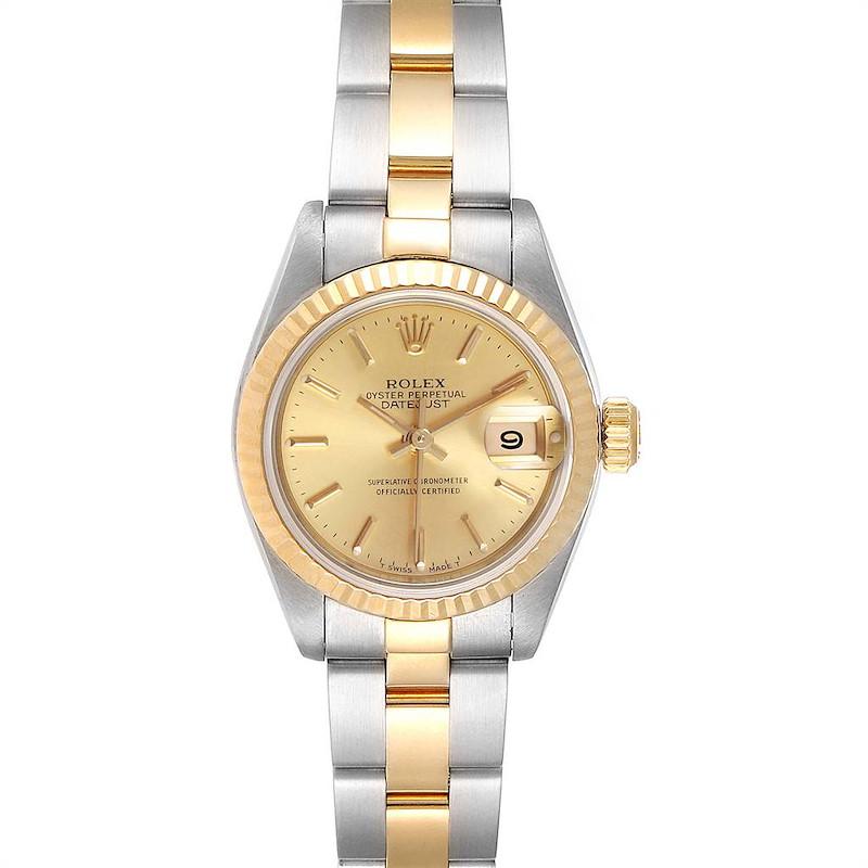 Rolex Datejust Steel Yellow Gold Oyster Bracelet Ladies Watch 69173 SwissWatchExpo
