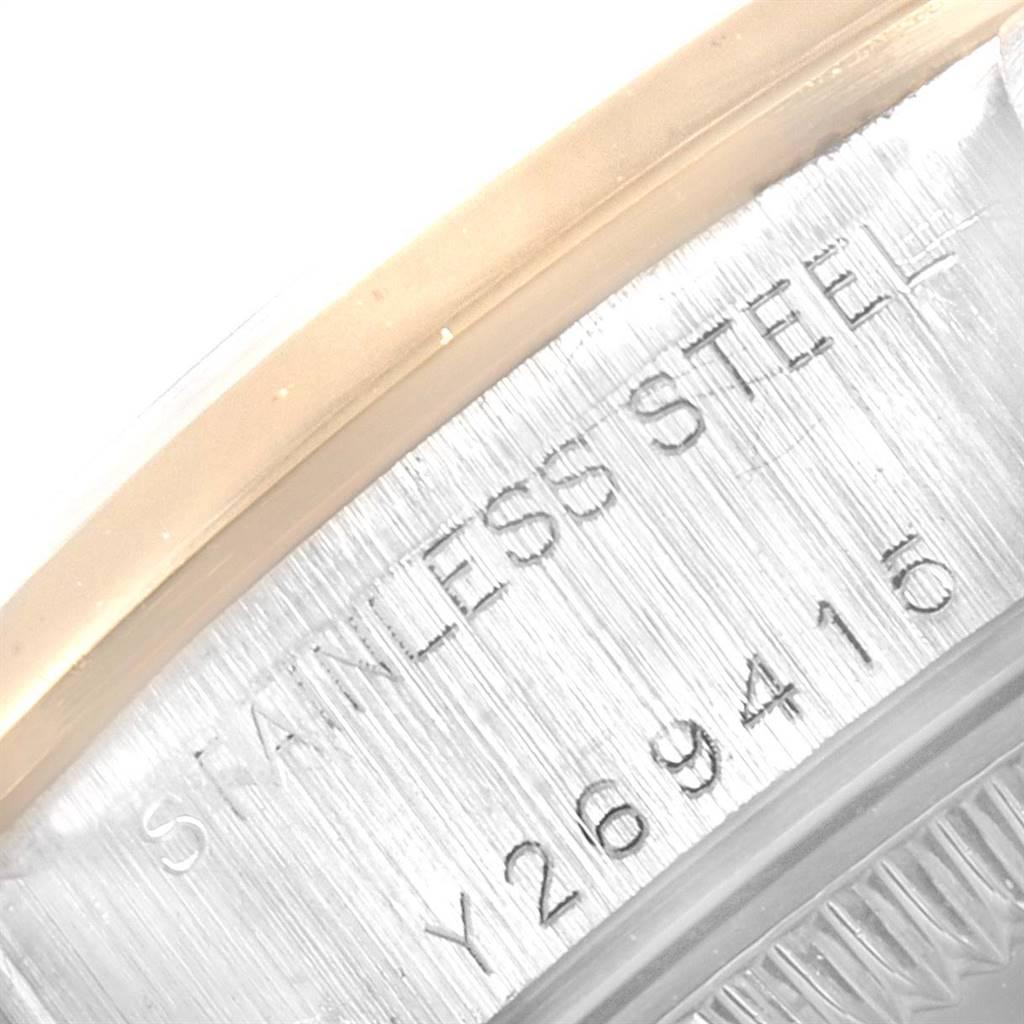 Rolex Datejust Steel Yellow Gold Silver Dial Ladies Watch 79163 SwissWatchExpo