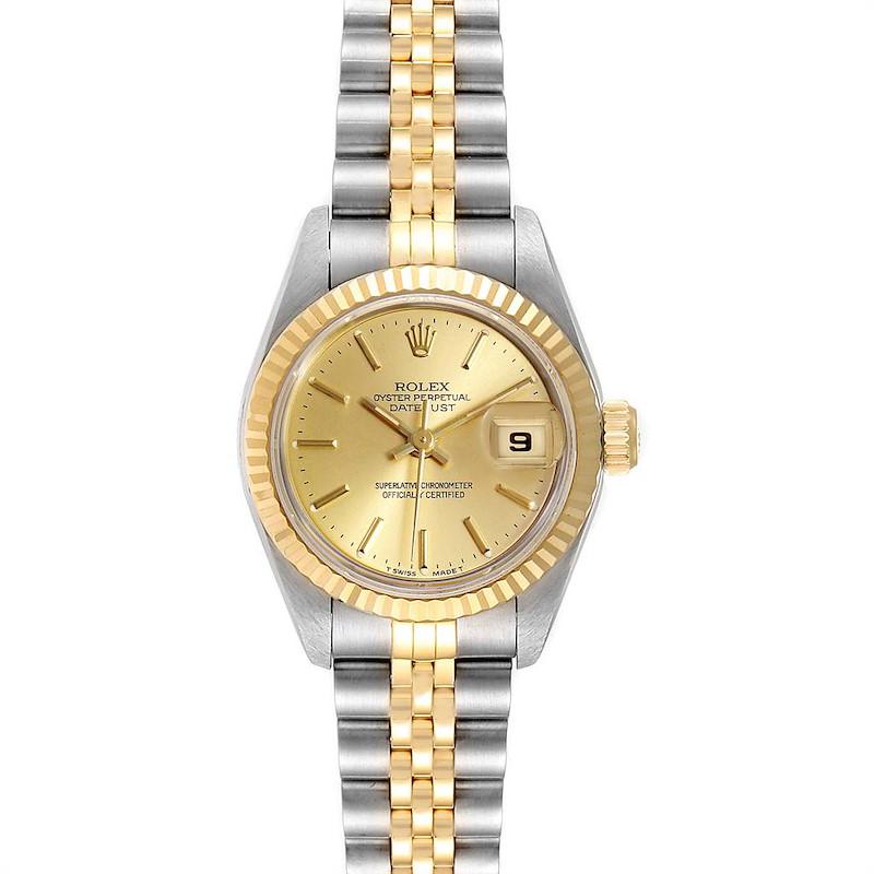 Rolex Datejust Steel Yellow Gold Jubilee Bracelet Ladies Watch 69173 SwissWatchExpo