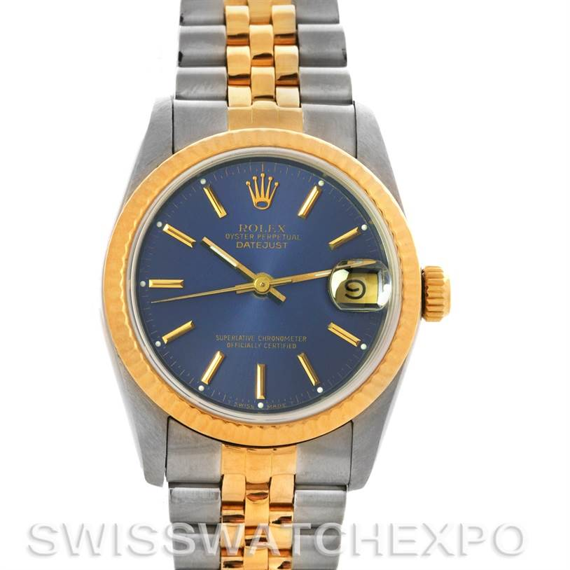 2705 Rolex Datejust Midsize Ss & 18k Gold Watch 68273 SwissWatchExpo