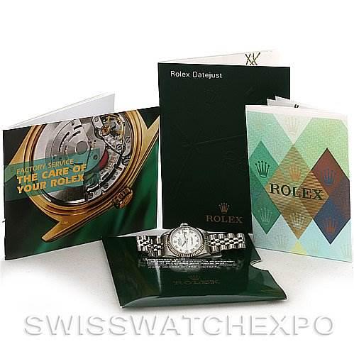 2704 Rolex  Datejust Ladies Steel and 18K White Gold Watch 79174 SwissWatchExpo