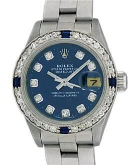 755WRL Rolex Ladies Rolex Datejust Diamond & Sapphire SwissWatchExpo