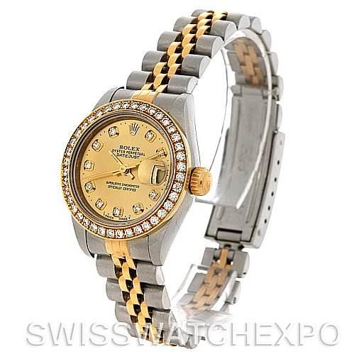 2129 Rolex Ladies Datejust Diamond Dial Bezel 79173 SwissWatchExpo