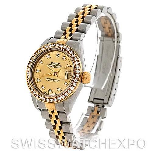 Rolex Ladies Datejust Diamond Dial Bezel 79173 SwissWatchExpo