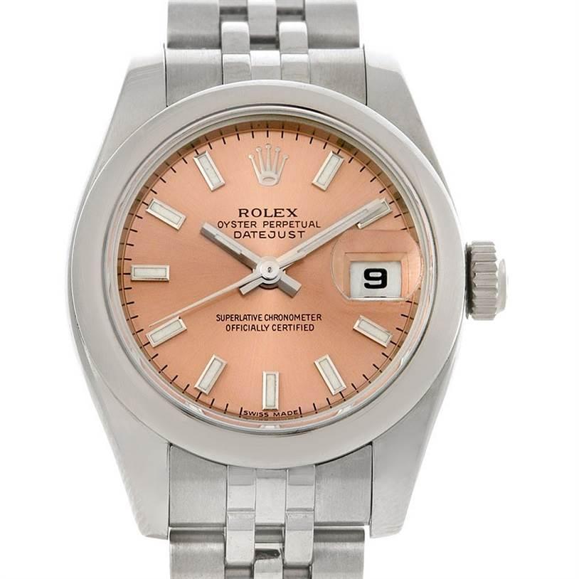 2935 Rolex Datejust Ladies Stainless Steel Watch 179160 SwissWatchExpo