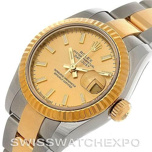 2945 Rolex Datejust Ladies Steel 18K Yellow Gold Watch 179173 SwissWatchExpo
