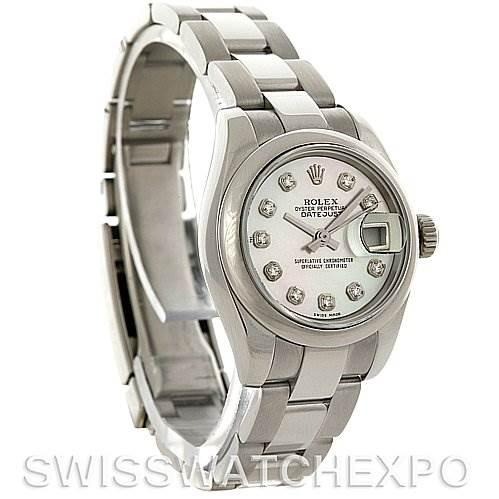 3060 Rolex Datejust Ladies Steel Diamond Watch 179160 SwissWatchExpo