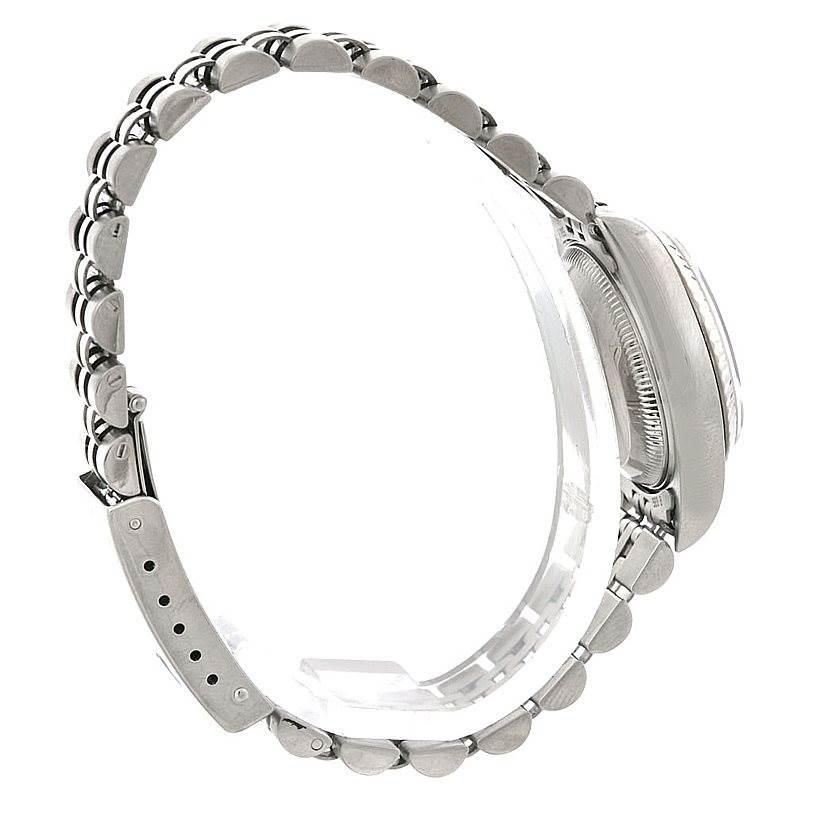 Rolex Datejust Ladies Steel 18k White Gold Watch 79174 SwissWatchExpo