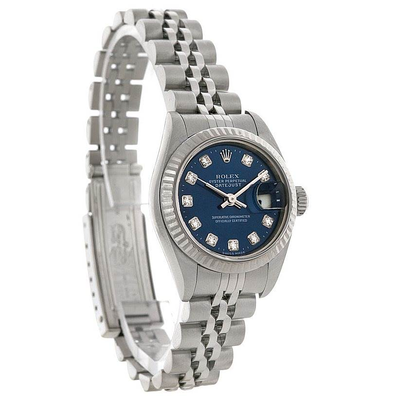 3092 Rolex Datejust Ladies Steel 18k White Gold Watch 79174 SwissWatchExpo