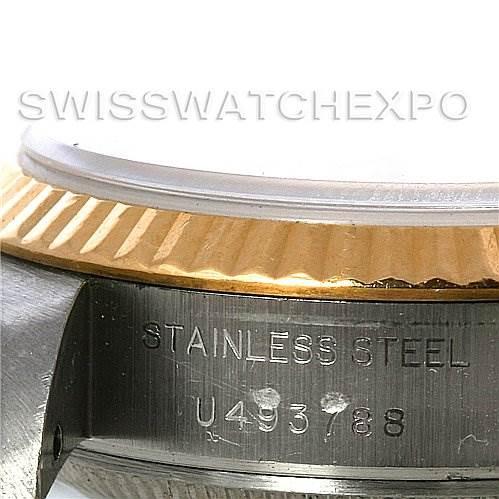 3093 Rolex Datejust Ladies Steel18k Yellow Gold Watch 69173 SwissWatchExpo