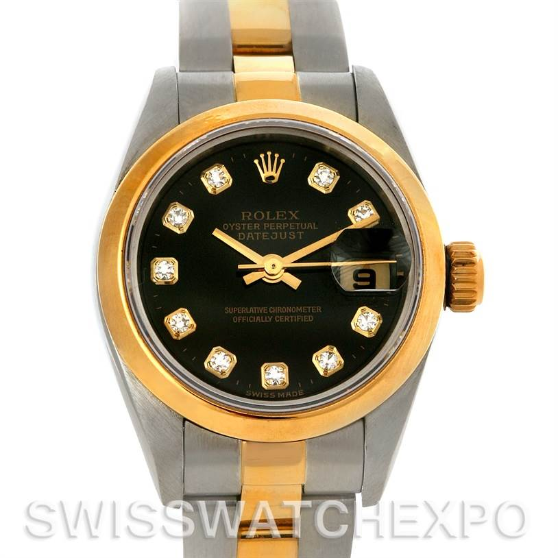 3091 Rolex Datejust Ladies Steel 18k Yellow Gold Watch 79173 SwissWatchExpo
