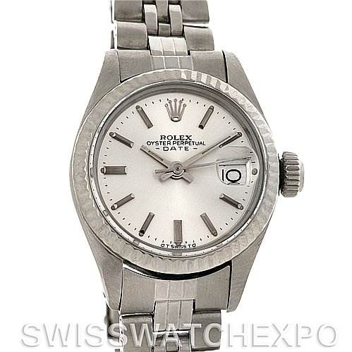3050 Rolex Datejust Ladies Steel 18k White Gold Watch 6917 Image not available SwissWatchExpo