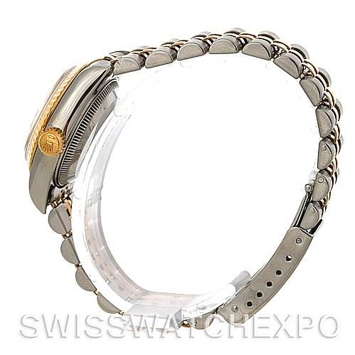 3045 Rolex Datejust Ladies Steel 18k Yellow Gold Watch 69173 SwissWatchExpo