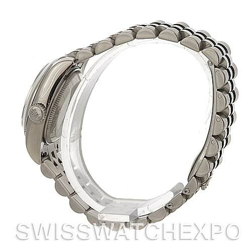 4060 Rolex Datejust Ladies Steel Rhodium Roman 179160 SwissWatchExpo