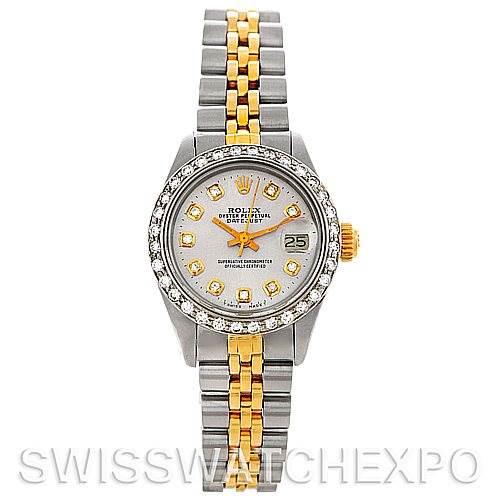 Rolex Datejus Ladies Steel 14k Yellow Gold Diamond 6917 Watch SwissWatchExpo