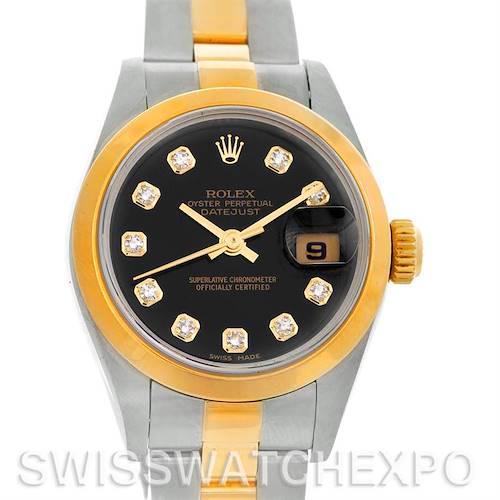 Photo of Rolex Datejust Ladies Steel 18k Yellow Gold Diamond Watch 79163