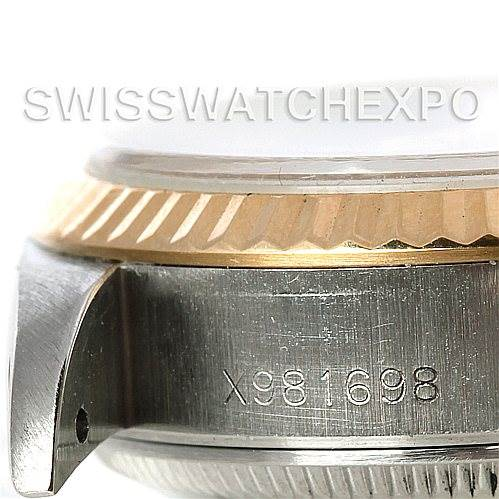 Rolex Datejus Ladies Steel 18k Yellow Gold White Dial 69173 SwissWatchExpo