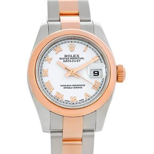 Photo of Rolex Datejust Ladies Steel 18K Rose Gold Watch 179161